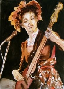 Esperanza Spalding-illustration par Régine Coudol Fougerouse