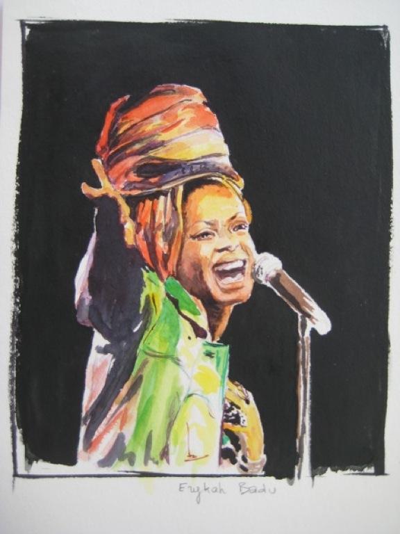 Erikah Badu par Régine Coudol Fougerouse
