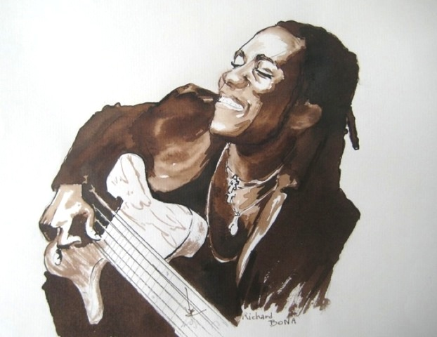 Richard BONA illustration R.Coudol