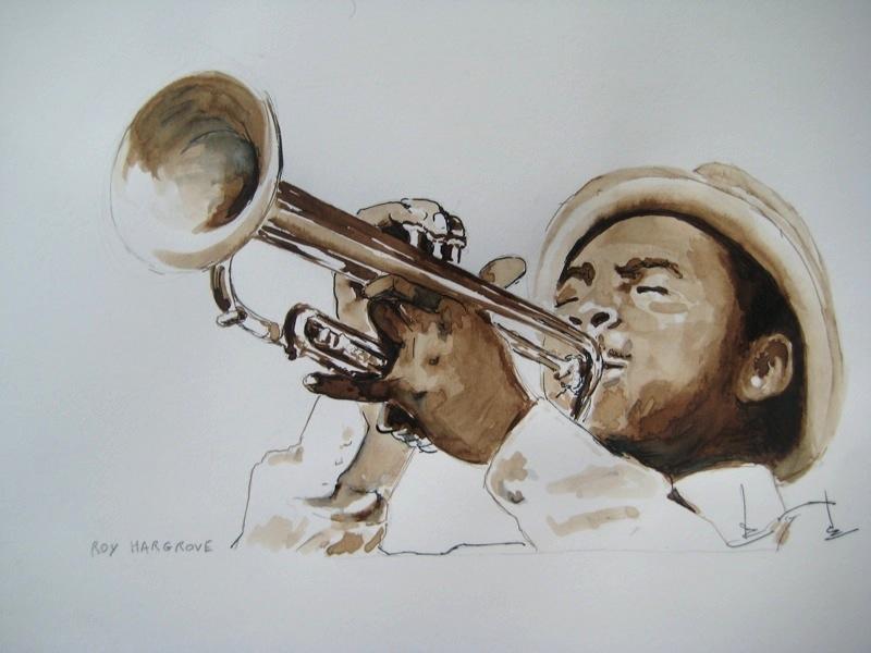 ROY HARGROVE.illustration Régine Coudol-Fougerouse